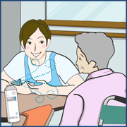 在宅介護における感染症予防・消臭対策イラスト画像