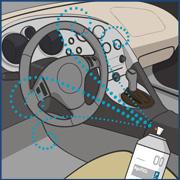 自動車内の感染症予防・消臭対策イラスト画像