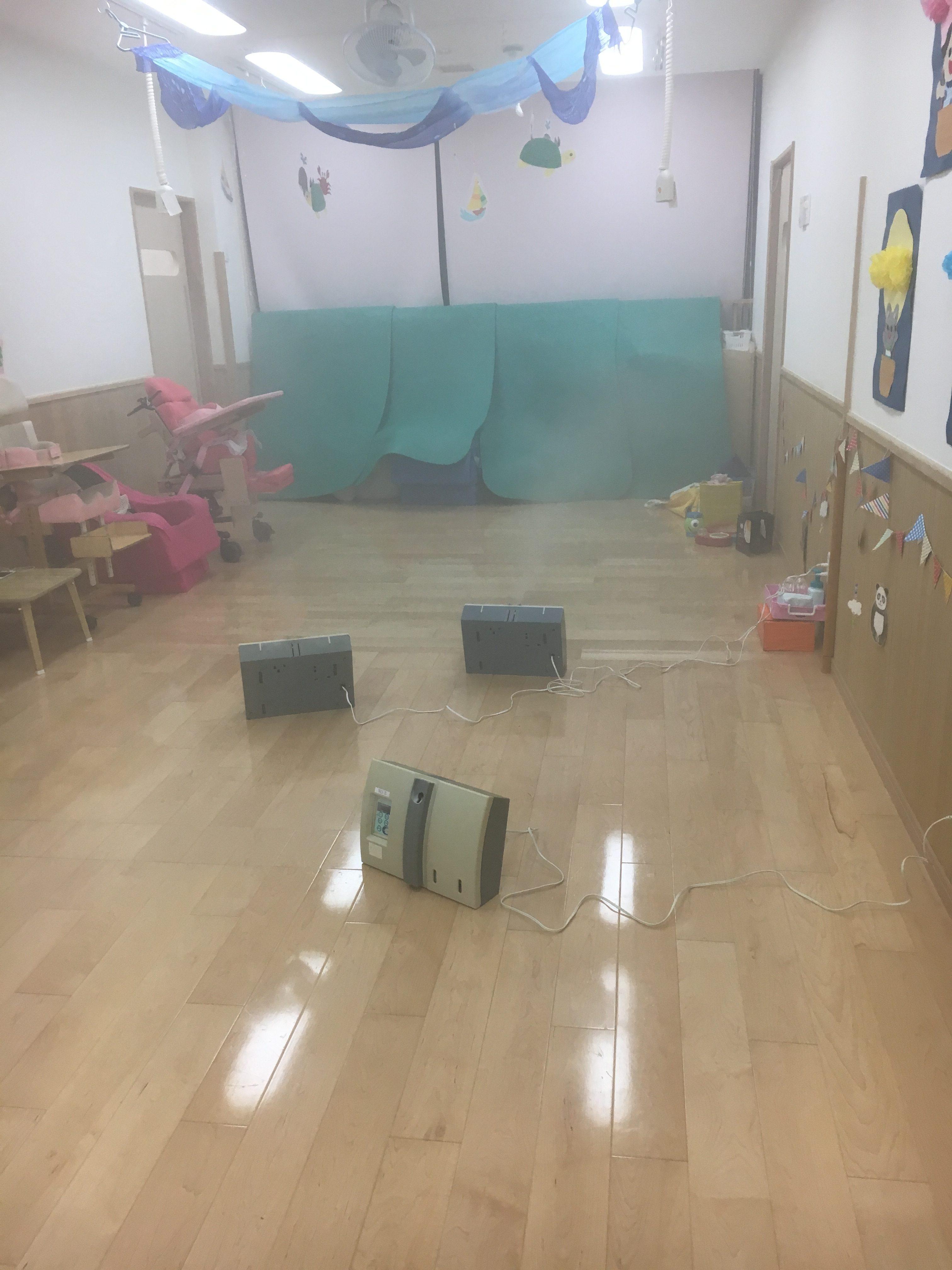 「障害児保育園ヘレン」様の保育施設内、送迎バスをまるごと抗菌